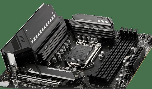 Extended Heatsinks in MSI MAG B560