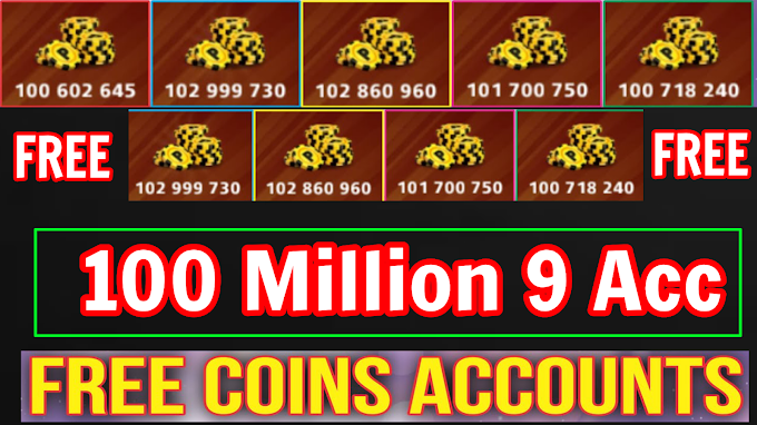 8 Ball Pool FREE 100 Million || 9 Accounts Giveaway For All HurryUp Friends