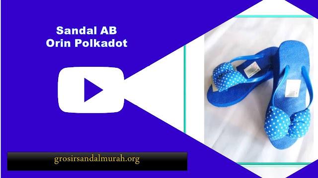 grosirsandalmurah.org - Sandal Wanita - Wedges Orin Polkadot