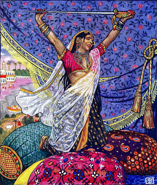 a Byam Shaw illustration for The Garden Of Kama 1901