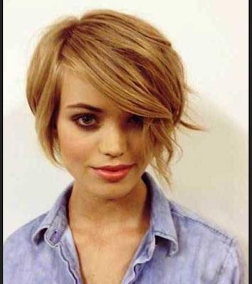 Gaya rambut chic, cocok untuk wanita berwajah bulat