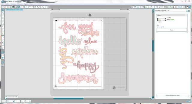 Come utilizzare singoli file .png nella modalità Print & Cut | Silhouette Cameo step16