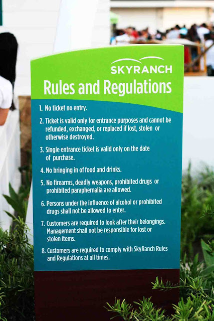 Rules and Regulations Sky Fun Amusement Park at Sky Ranch Tagaytay