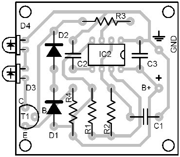 Parts Placement Layout Infrared Switch (Transmitter Module)
