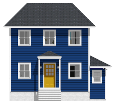 quot the blue house with the yellow door quot colorful coastal