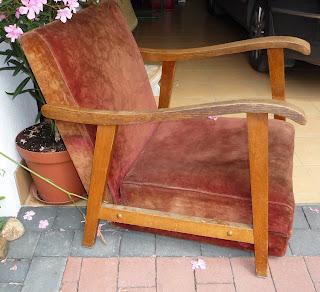 rozkładany fotel PRL