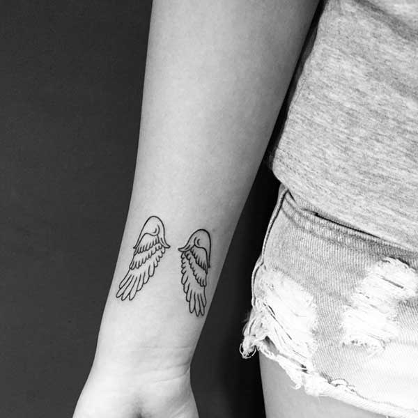 wing tattoo wrist tumblr