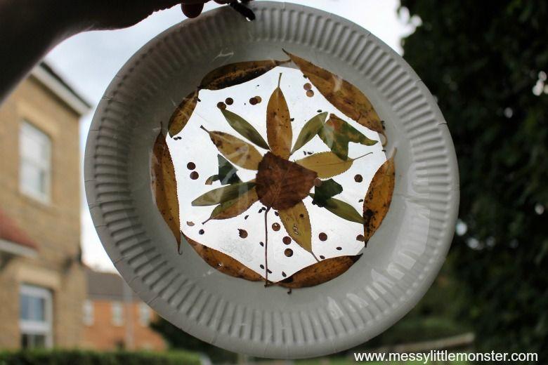 leaf suncatcher craft for kids