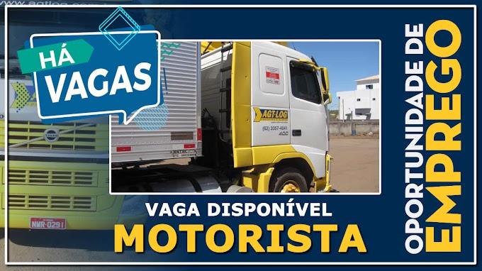 Transportadora AGT-LOG abre vagas para motorista carreteiro