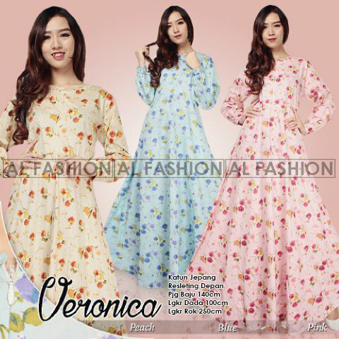 Gamis Katun Jepang Veronica Original By Al Fashion - Gamis Kajep Payung -  supplier tangan pertama baju gamis katun jepang online murah langsung  distributor ... 8e53aef774