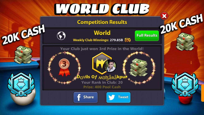 💰20K Cash💰 Devil's Of Mubarakpur World Club 8 Ball Pool