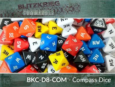 BKC-D8-COM   D8 Compass Dice (x2)