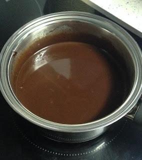 Cobertura de chocolate derretida