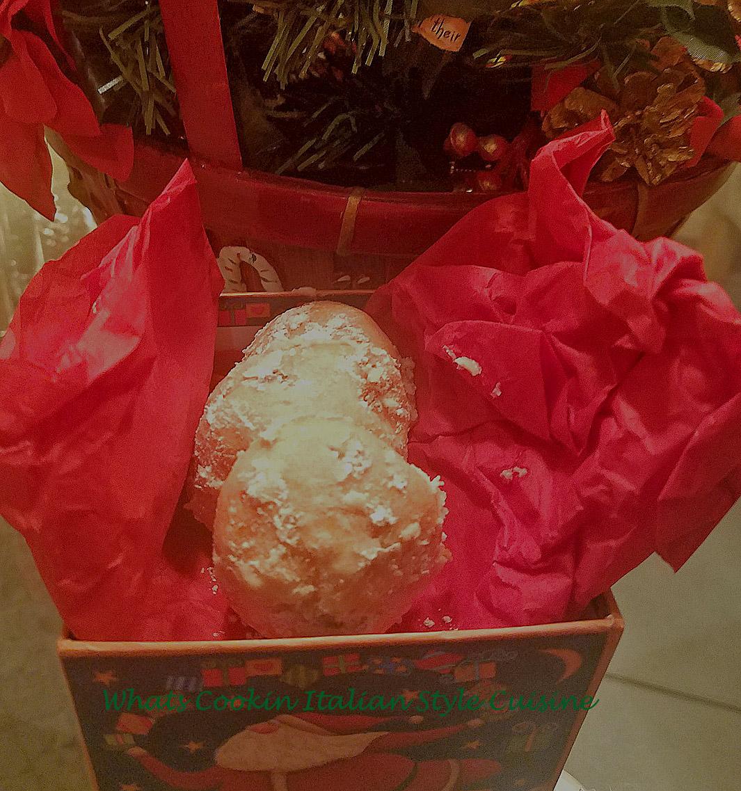 Cherry Almond Chocolate Snowball Cookies What S Cookin Italian