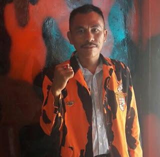 Arpan Saragih ketua PAC Pemuda Pancasila Batu Aji