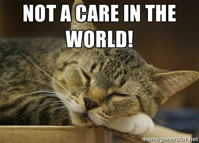 Not a care in the world!