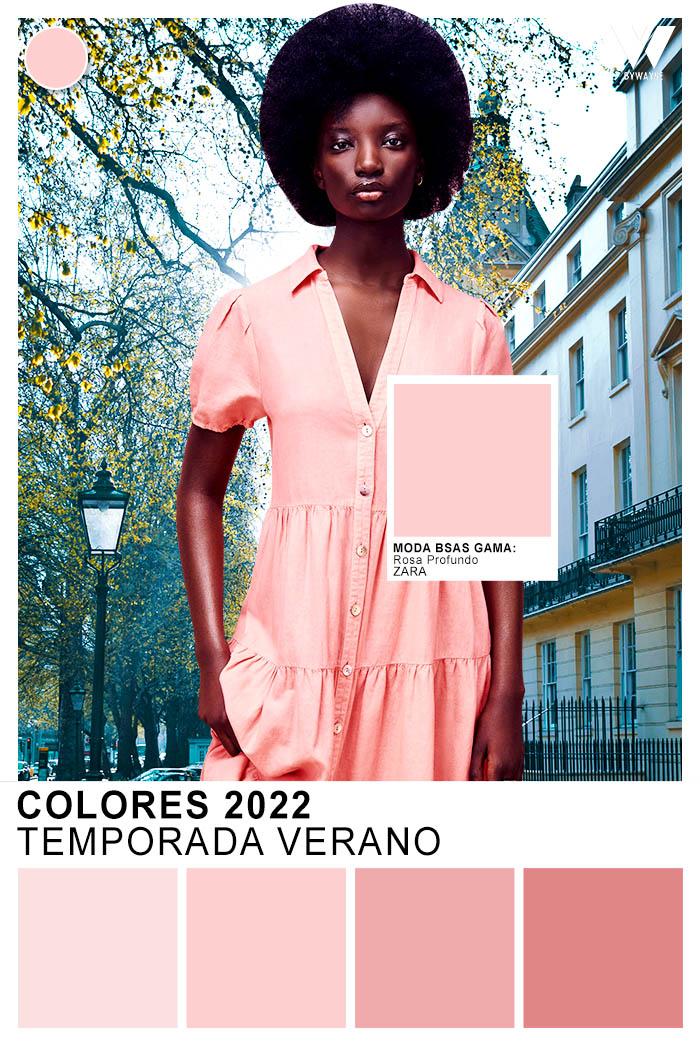 Rosa color de moda primavera verano 2022