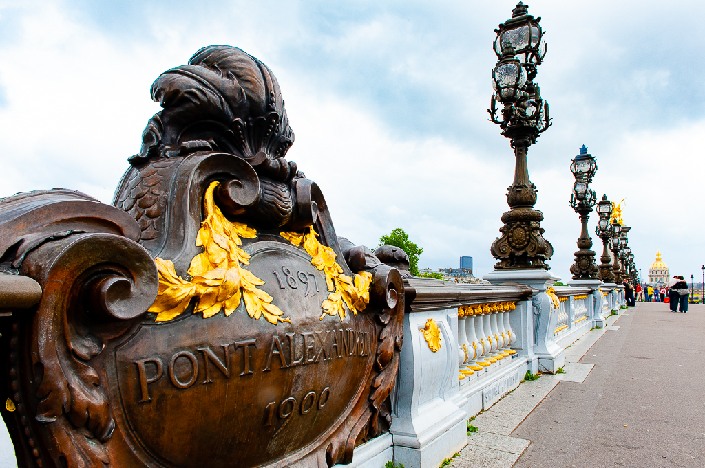 a photograph of the pont alexandre iii in paris