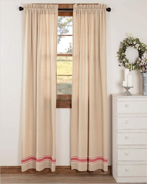 rustic farmhouse living room curtains