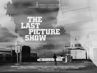 The Last Picture Show - Movie Poster - Includes Visual Illusion of a man's silhouette as a dark cloud