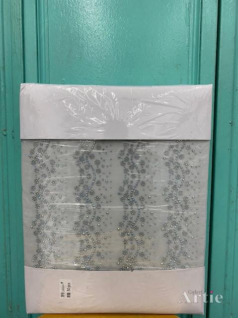 Hotfix stickers dmc rhinestone aplikasi tudung bawal fabrik pakaian barisan bunga kecil dengan fade silver