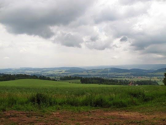Panorama na Wzgórza Ścinawskie.