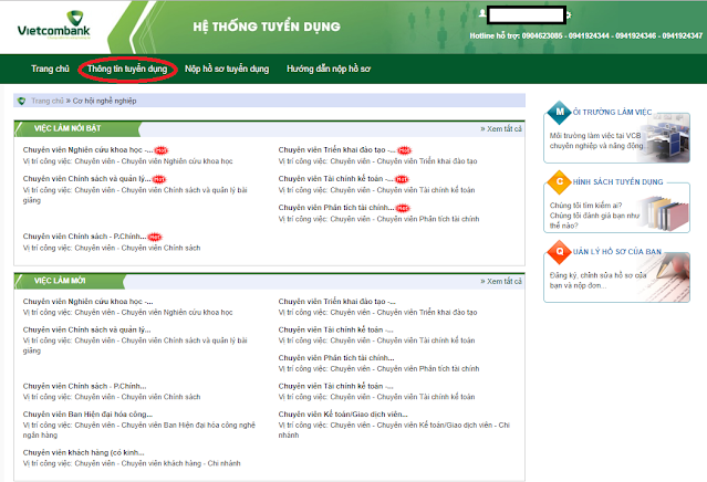 Hướng Dẫn Nộp Hồ Sơ Online Vietcombank