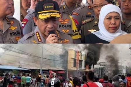 Kapolri, Kerusuhan Manokwari Papua Barat Diduga Berawal Dari Kabar Hoaks