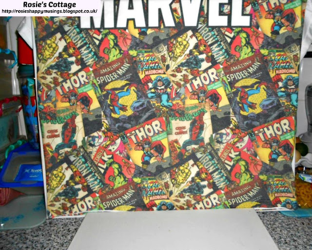 Making a Marvel background