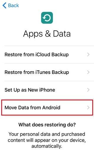 كيفية نقل بياناتك من الاندرويد إلى الايفون