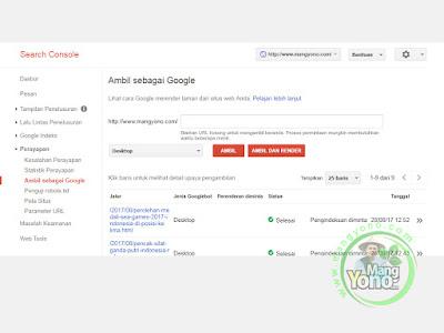 1-Cara Submit URL Artikel Blog Ke Fetch as Google