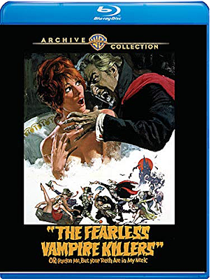Covert art for Warner Archive's THE FEARLESS VAMPIRE KILLERS Blu-ray!