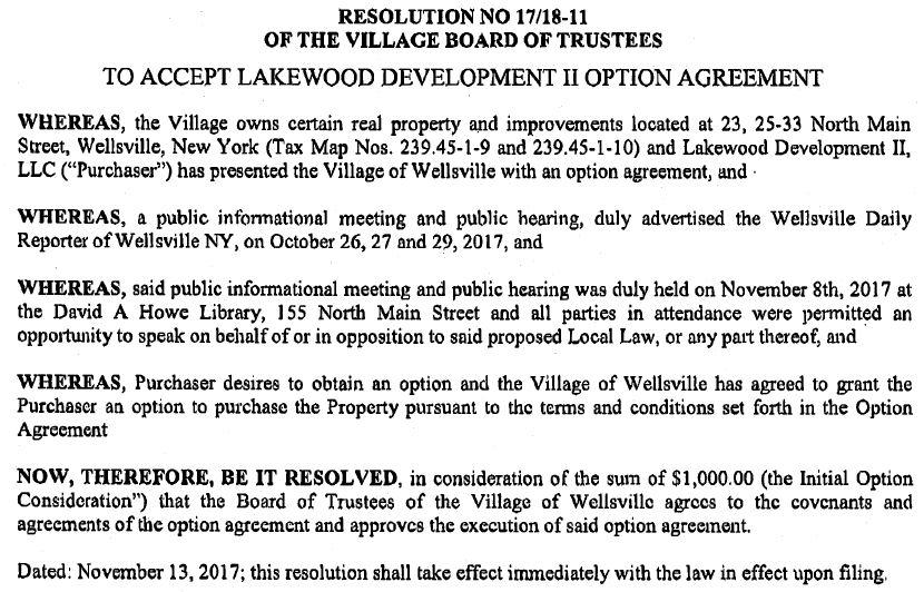 Wellsville Regional News Dot Com Wellsville Village Advances