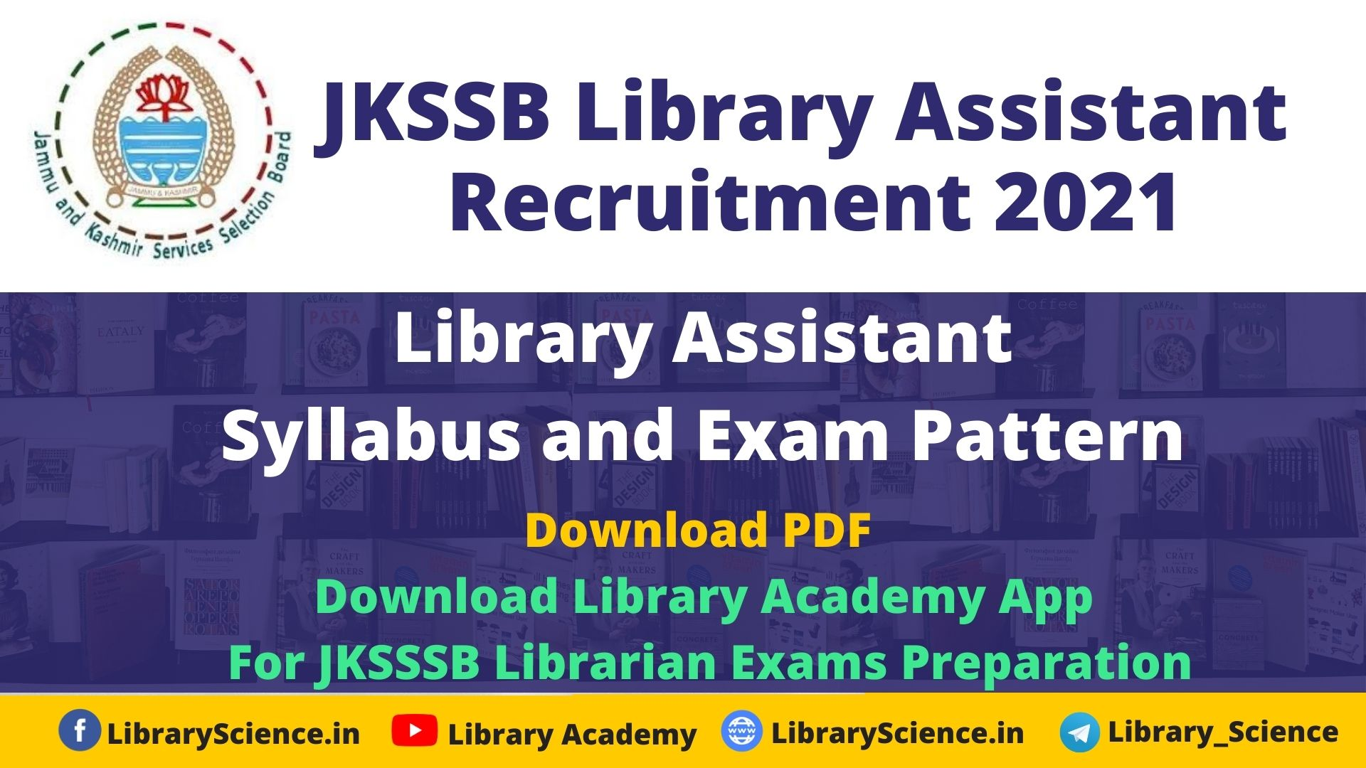 jkssb library Assistant