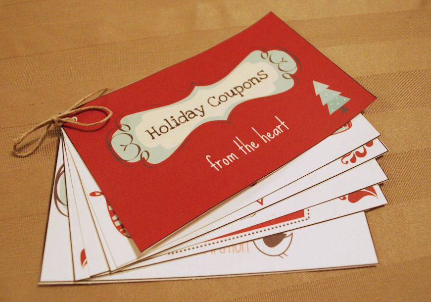 personalized coupon book template - diy holiday coupon book amy latta creations