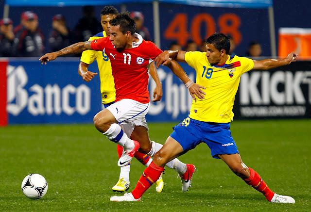 Ecuador y Chile en partido amistoso, 15 de agosto de 2012