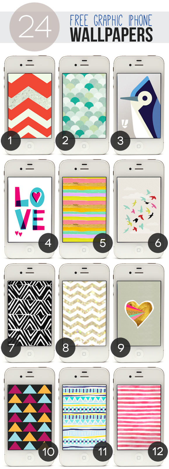 24 Free Graphic iPhone Wallpapers - Lines Across