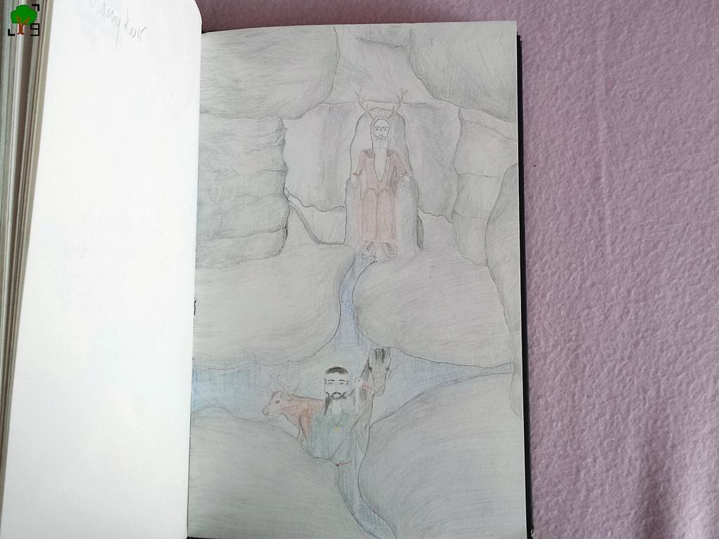 Błędne Skały, sala tronowa, Liczyrzepa, Karkonosz, tur, Trzygłów, koń, rysunek