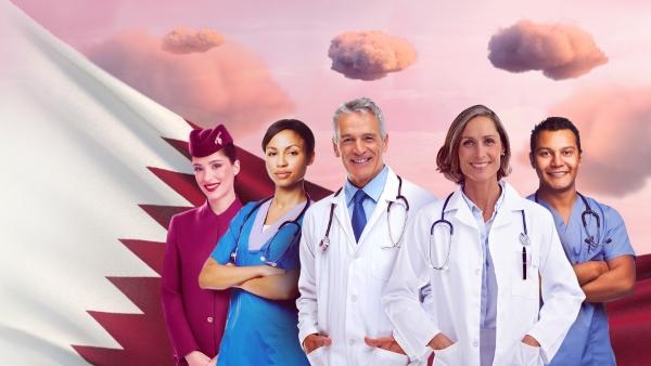 Qatar Airways frontliners