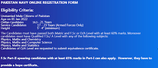 Join Pakistan Navy As PN Cadet Permanent Commission 2021