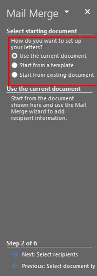 memilih dokumen yang akan digunakan