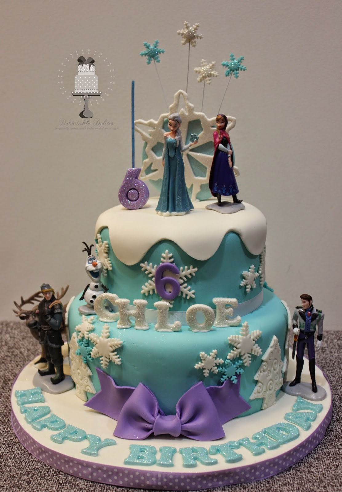 Delectable Delites Frozen Cake For Chole S 6th Birthday