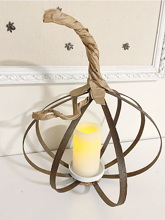 pumpkin shape with candle