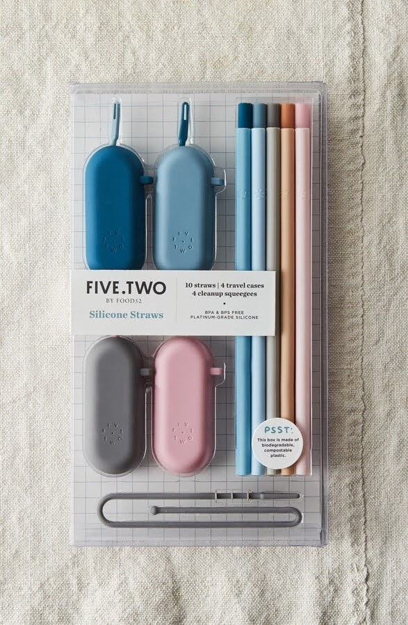 10 Silicone Straws & Travel Cases | Five by Two by Food52