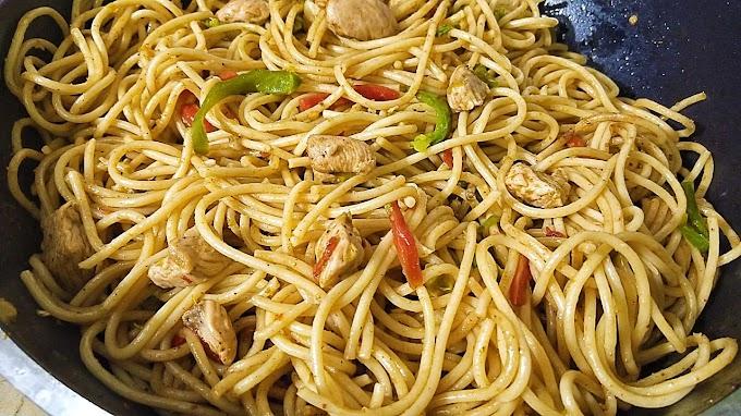 Spicy Chicken Noodles Recipe | Chicken Chow mein