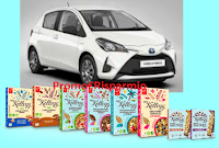Logo Kelloggs ''Vinci Yaris Hybrid Con WKK'' e forniture di prodotti