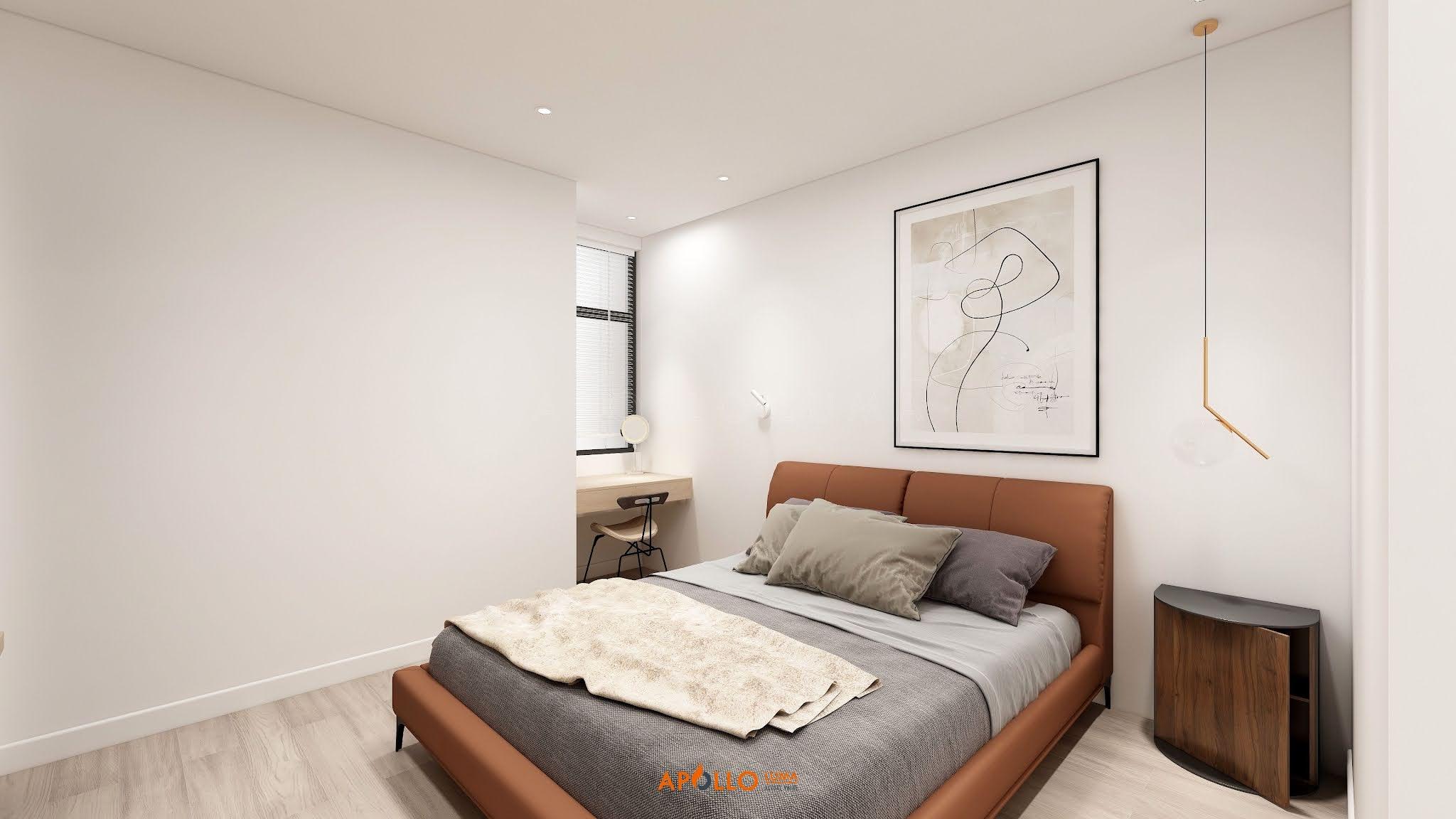 Thiết kế nội thất căn hộ 2 phòng ngủ (79.2m2) Phương Đông Green Park