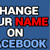 How Change Facebook Profile Name