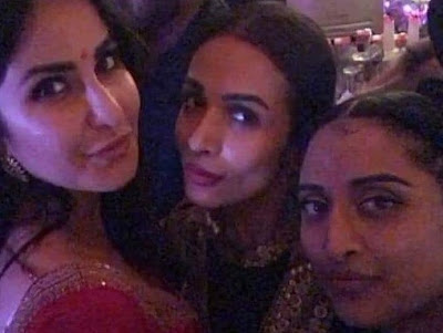 Maliaka Arora And Katrina kaif at Diwali Bash