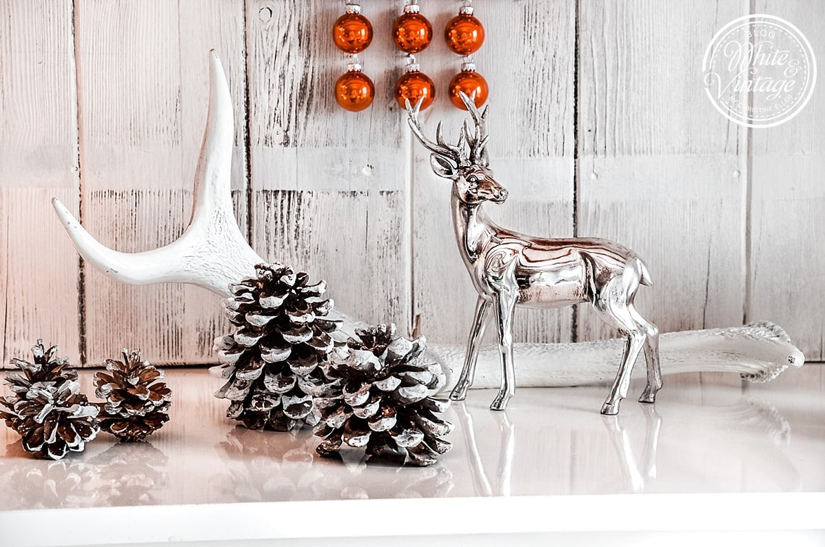 Weihnachtsdekoidee mit Hirschen